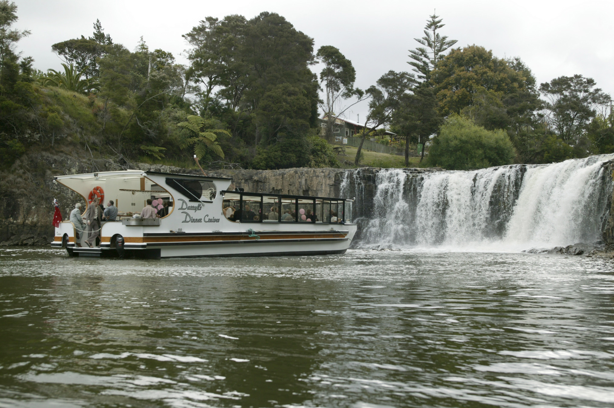 dinner cruise to haruru falls near paihia in the bay of islands